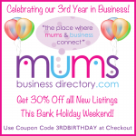Mums Business Directory 3rd Birthday