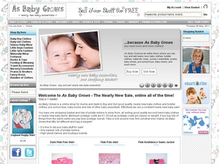 As Baby Grows - The Online Nearly New Baby Sale