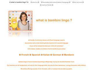 bambini lingo - fun language classes for babies & children