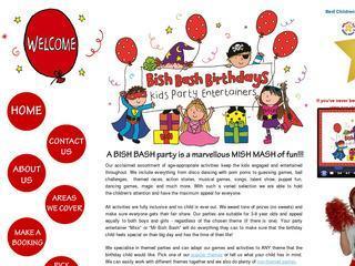 Bish Bash Birthdays Childrens Party Entertainers