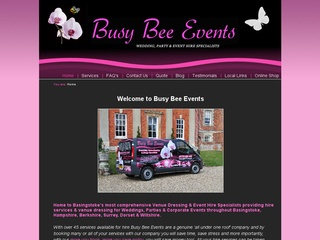 Busy Bee Events - Hampshire's most comprehensive Wedding Hire, Decor Dressing Providers