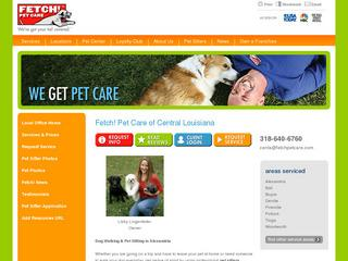 Fetch Pet Care dog walking in Alexandria