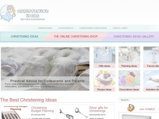 Christening gifts and decorations