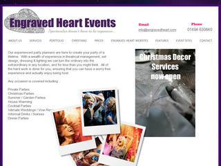 Engraved Heart Events