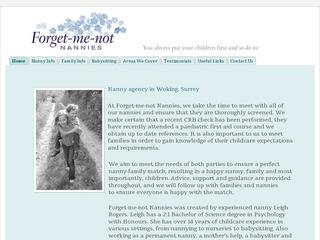 Forget-me-not nannies, nanny agency based in Woking