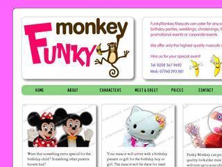 Funkymonkey mascot entertainers. Enfield.