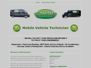 JAW Automotive Ltd Mobile Vehicle Technician