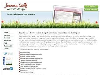 Joanna Craig Website Design