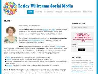 Lesley Whiteman Social Media