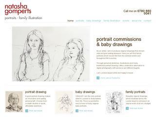Artist Portrait Drawings by Natasha Gomperts