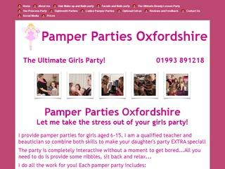 Pamper Parties Oxfordshire