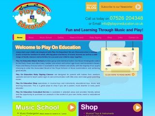 Play On Education - Baby, Toddler & Preschool Music Classes