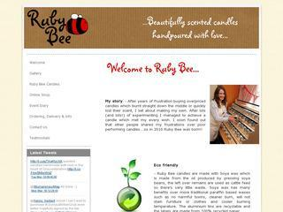 Ruby Bee Candles