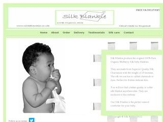 Original 100% Pure Organic Mulberry Silk baby blankies/Comforters