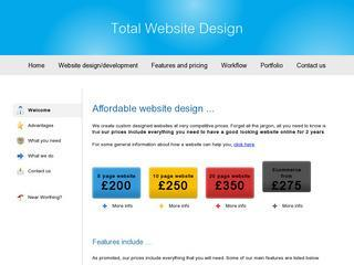 5 page website design, only £290 - perfect for small businesses