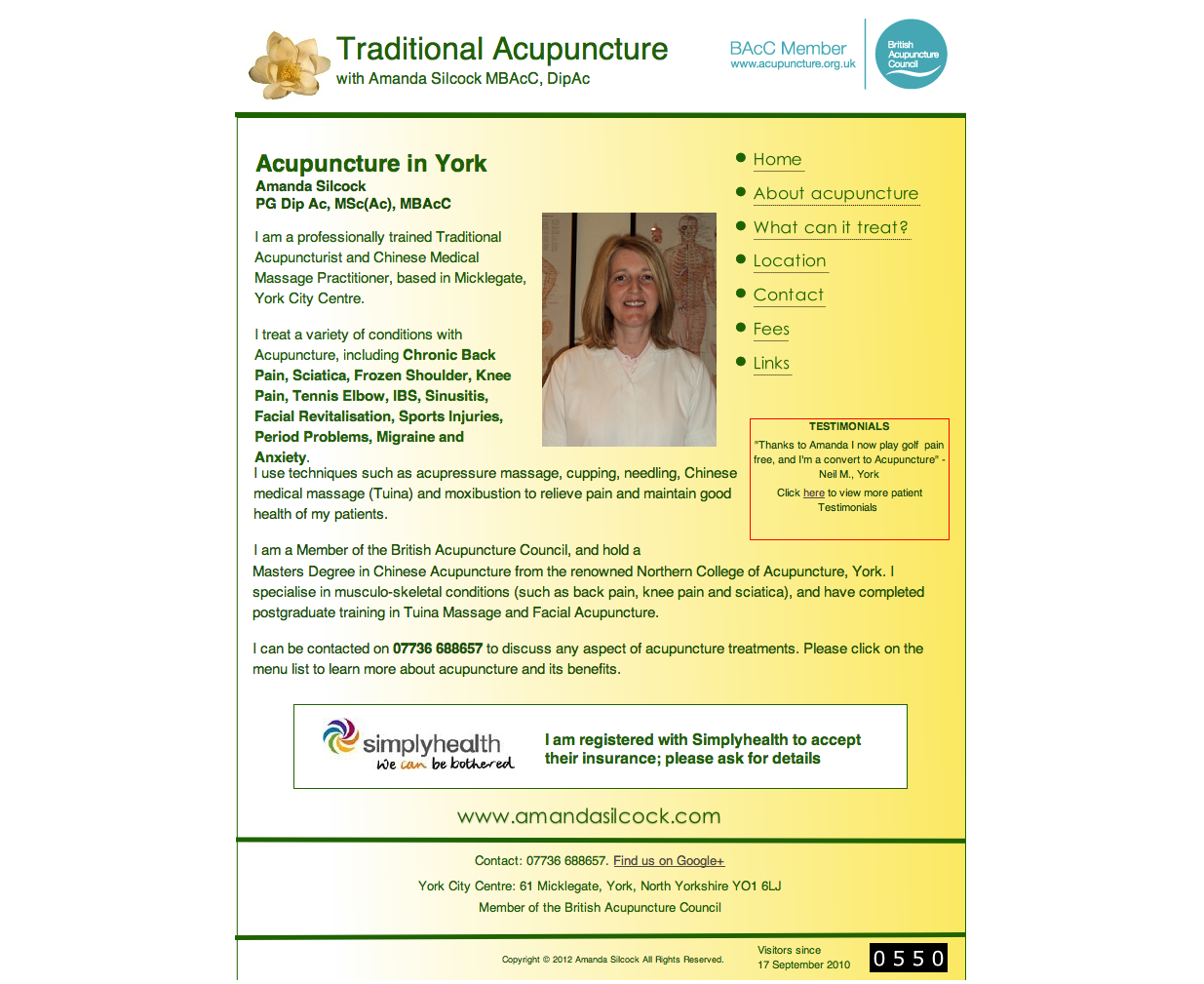 Amanda Silcock - Acupuncture in York