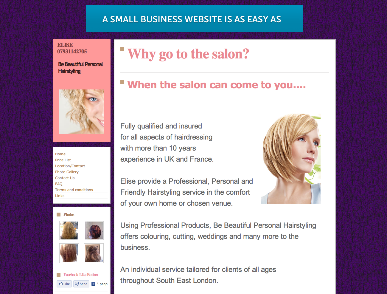 Be Beautiful Personal Hairstyling