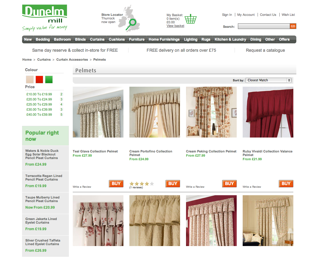 Curtain Pelmets
