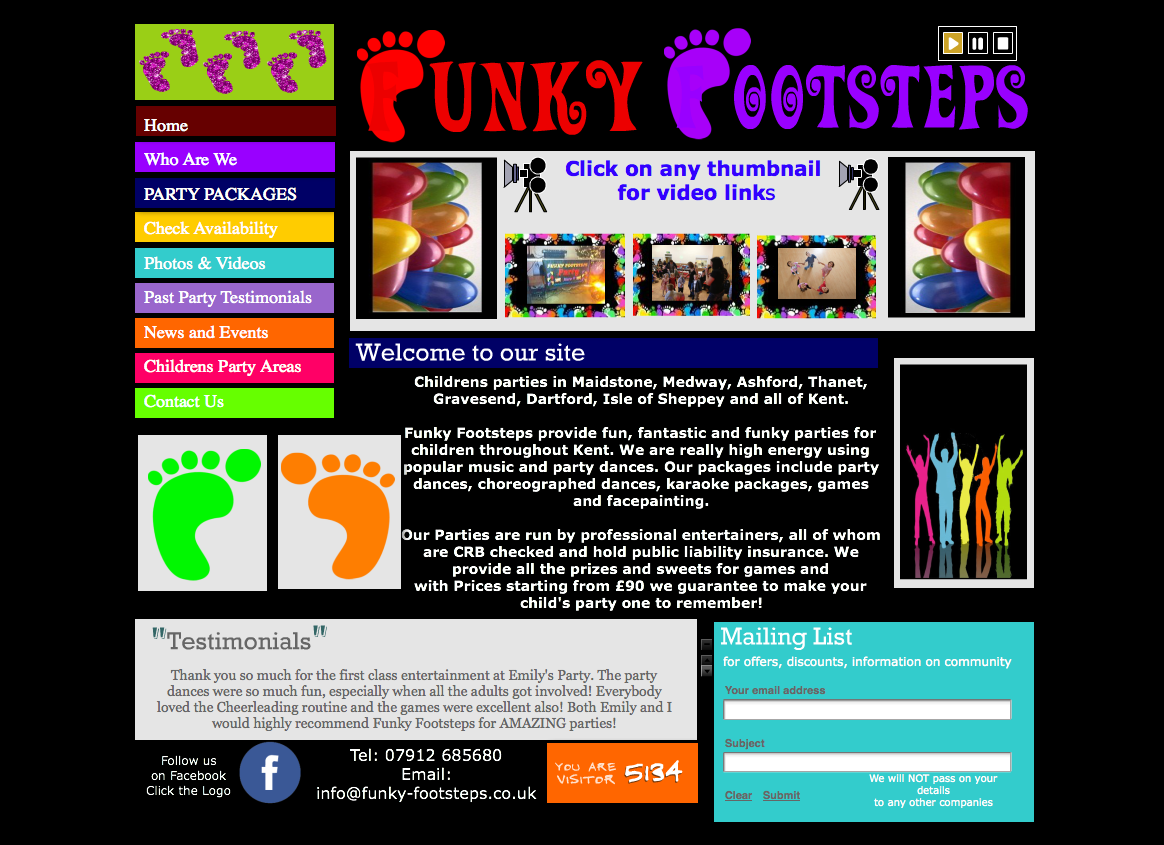 Funky Footsteps parties