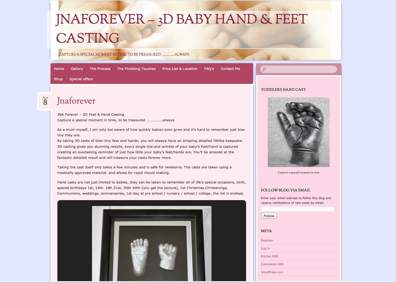 Jnaforever hand & foot casting