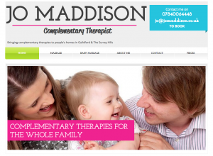 Jo Maddison, Complementary Therapist