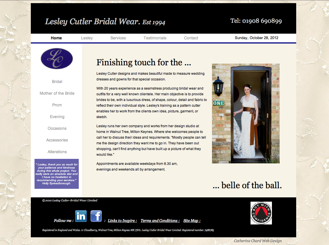 Lesley Cutler Bridal Wear Ltd.
