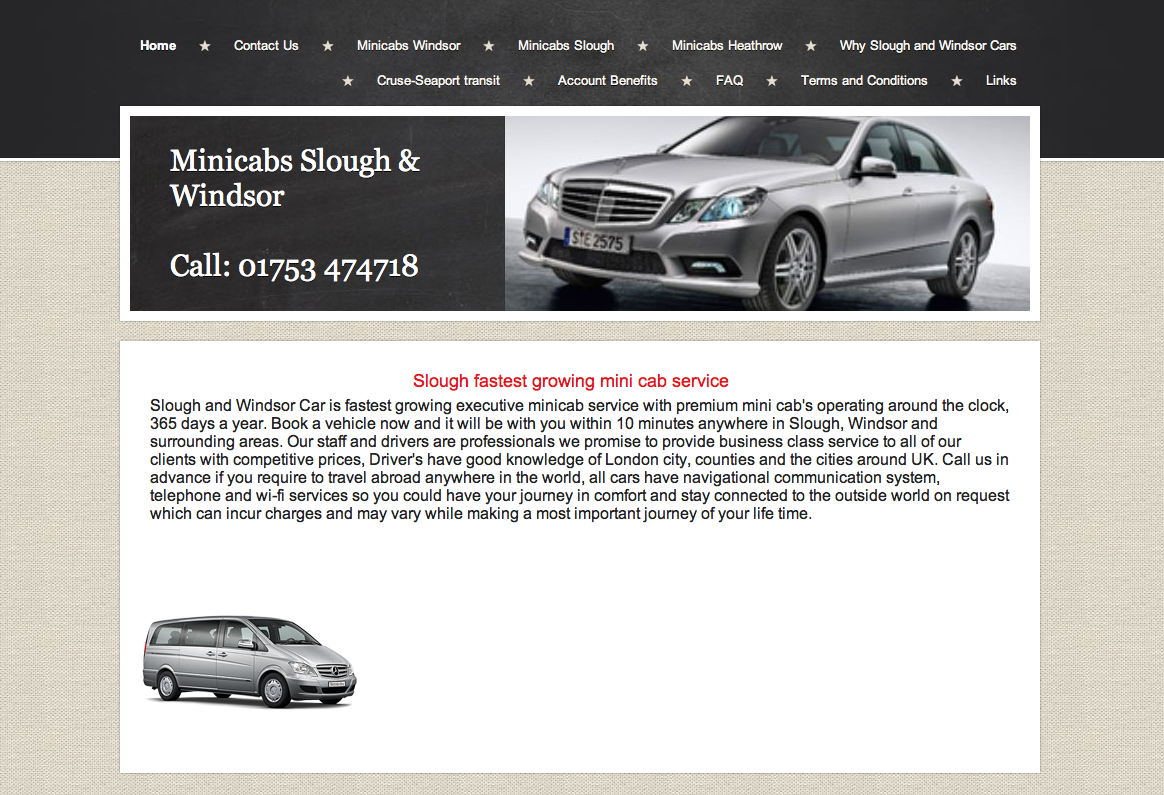 Minicabs Slough and Windsor