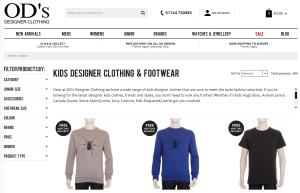 OD's Designer Kids Clothing