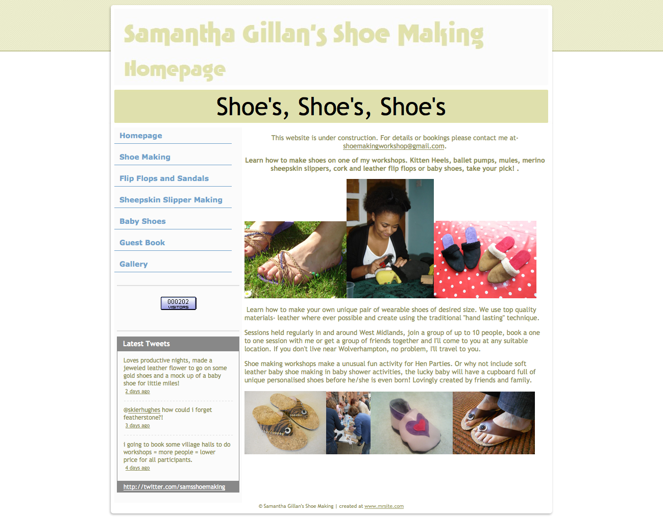 Baby Shoe and Adult Shoe Making Workshops