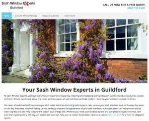 Sash Window Experts Guildford