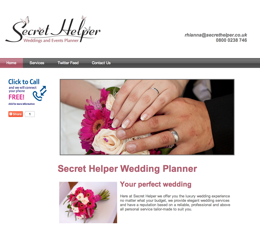 Secret Helper Wedding and Events