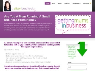 Alison Bradford - Getting Mums In Business