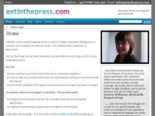 Get In The Press  - PR & Marketing